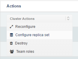 Cluster Actions
