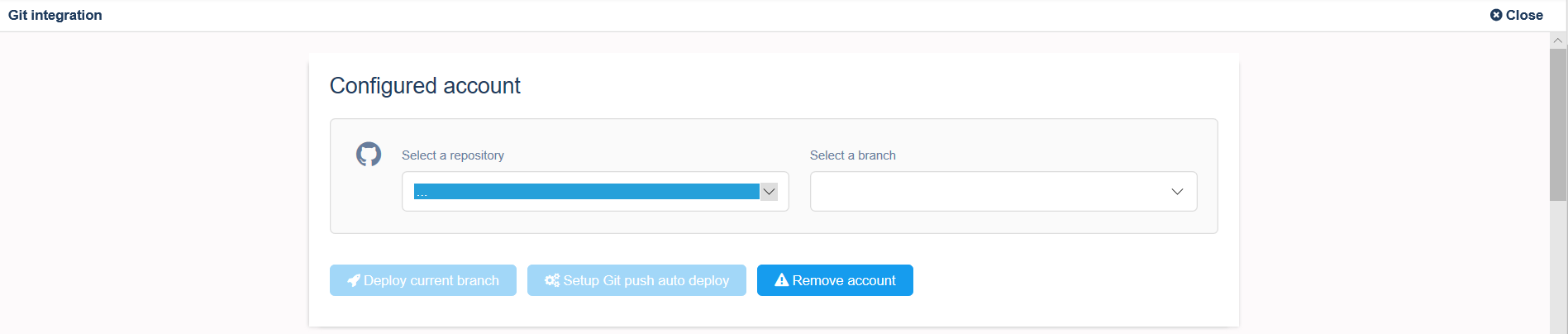 Deploy Node js app from GitLab, GitHub or BitBucket repository