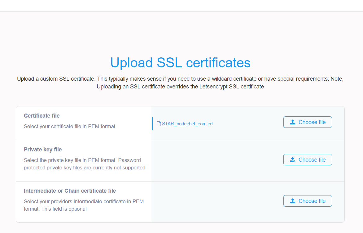 Uploading custom ssl certificates xflitez Image collections